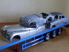 3 x  1/43   Corgi bare metal car bodyshells trailer load , trailer not included