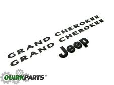 2013-2014 Jeep Grand Cherokee BLACK EMBLEM NAMEPLATE KIT MOPAR GENUINE OEM NEW