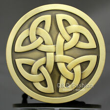 Vintage Gold Western Tribal Celtic Trinity Knot Cowboy Rodeo Belt Buckle Gift W8