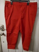Women's Liz Claiborne Pants Satin City Fit Skinny Size 24W Cabaret Red NEW