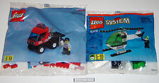 Lego Police Helicopter (Used) and Fire Tractor Truck (New in Polybag)