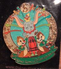 Disney HKDL Hong Kong Chip & Dale Dumbo Pin 5 Year Anniversary