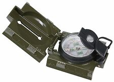 OD Liquid Filled Military Compass - Magnifying Glass Red LED Light Side Ruler