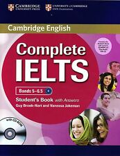 Cambridge COMPLETE IELTS Bands 5-6.5 STUDENT BOOK w Answers+CD-ROM+Class CD @New