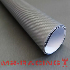 "12""x60"" 3D GRAY Carbon Fiber Texture Vinyl Wrap Sticker Decal Film Sheet"