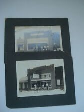 2 PHOTO'S BEFORE & AFTER ~ FISK TIRES HOMINY VULCANIZING  COMPANY ~ STOREFRONT