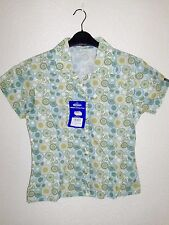 womans ladies gelert short sleeved shirt blouse in fresh green mix size 12