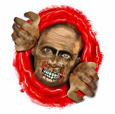 Splattered Toilet Seat Stickers Zombie/skull Halloween Horror Party Decoration