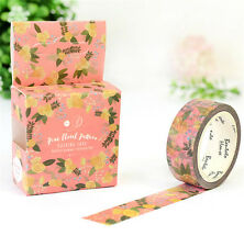 HOT Design 15mm×7M paper Sticky Adhesive Sticker Decorative Washi Tape DYI H-30