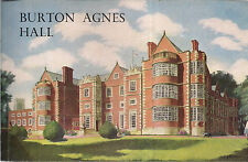 BURTON AGNES HALL  Yorkshire..guide book c.1958  vgc