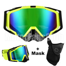 Motocross Goggles Eyewear Sports Glasses With Mask New Yellow Black Motorcycle