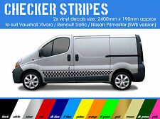 2x Checker Stripe Decals  - to suit vivaro / trafic / primastar *short wheelbase