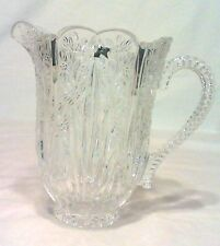 """HTF CRYSTAL ONIEDA SOUTHERN GARDEN PITCHER 4 CUPS,  7-1/2"""" TALL, GERMANY MINT"""