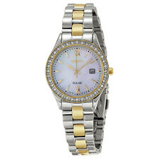 Seiko Solar Mother of Two-tone Ladies Watch SUT074