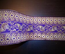 1m 10cm purple ethnic jacquard embroidered ribbon lace applique  trimming decor