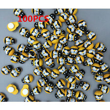 100x DIY Insect Wooden Art Micro Bee Stickers Fridge Home Wall Decorative Crafts