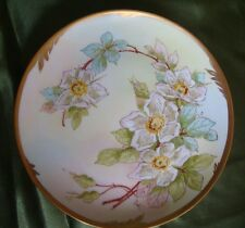 "ANTIQUE HAND PAINTED PLATE  PICKARD ARTIST ""WALTERS"" , WILD ROSES, 8 3/4"""