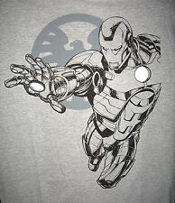 Marvel/DC: IRONMAN OUTLINE T-Shirt (L) - RARE (iron man/wolverine/spiderman)