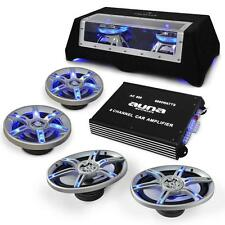 HIFI CAR STEREO SOUND SYSTEM 6000W AMP 4 x SPEAKERS SUB SET *FREE P&P UK OFFER