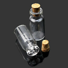 1pcs 2ml Small Tiny Empty Clear Glass Bottles Vials with Cork 16*35mm