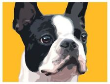 artav Boston Terrier 05 Art Print Dog Puppy Painting