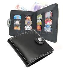 Portafoglio wallet Stile Pelle Chitarra Porta Borsa Custodia per 12 Plettri Nero
