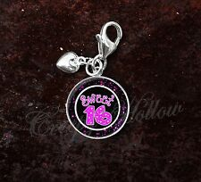 925 Sterling Silver Charm Sweet 16 Celebration Party Sixteen Teen