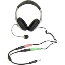 Startech Headset adapter for headsets with separate headphone / microphone plugs