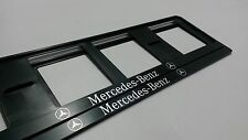 X2 MERCEDES-BENZ. EUROPEAN LICENSE NUMBER PLATE SURROUND FRAME HOLDER