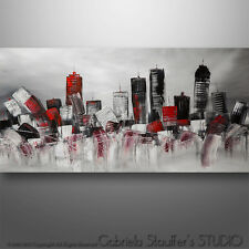 "GS 48"" Original Abstract Cityscape Skyline Art  Painting Surreal  Modern  #022"