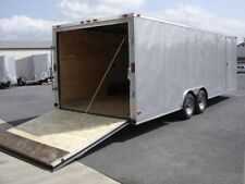 8.5x20 Enclosed Trailer Car Hauler Cargo V Nose 22 Tandem 8 Utility Motorcycle