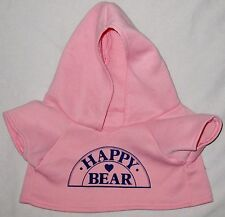 "Pink 13"" BEAR Hoodie Shirt Blouse Pull Over Jacket Doll Clothes"