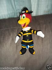WOODY WOODPECKER UNIVERSAL STUDIOS WOODY DRESSED AS A FIREFIGHTER PLUSH DOLL
