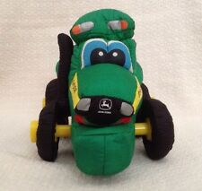 John Deere Soft Plush Electronic Toy Tractor 2003 Drawstring Moving Driving