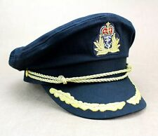 Deluxe Black Navy Sailor Captain Officer Stag Night Nautical Fancy Dress Hat New