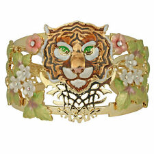 NEW KIRKS FOLLY TIGER TIGER BURNING BRIGHT CUFF BRACELET GOLDTONE