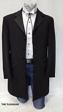 46 L Mens Black Western Tuxedo Cowboy Country Style Rodeo Vaquero Jacket Bolo