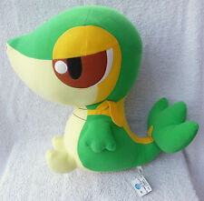 Official Banpresto Pokemon 2010 UFO DX Snivy Soft Plush Toy Doll Japan MWMT 14""