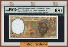 TT PK 503Ng 2000 CENTRAL AFRICAN STATES EQUATORIAL GUINEA 2000 FRANCS PMG 68 EPQ