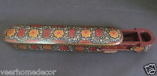 Antique Finish Islamic Indo Persian Qajar Lacquered Pen Box Qalamdan
