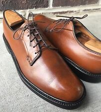 VTG FLORSHEIM IMPERIAL KENMOOR V-CLEAT 5 NAIL BROWN LEATHER SHOES SZ 8 C (93603)