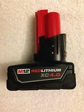 NEW Genuine Milwaukee 12 Volt 48-11-2440 M12 XC 4.0Ah Red Lithium Ion Battery