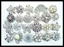 25 pc PINS Brooches Faux PEARL Bling Wedding Bouquet
