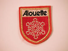 Vintage NOS Alouette Snowmobile Patch Rare Red Outline