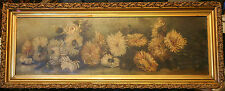 Early 20c Oil on Canvas Floral Signed M Goodman - Gilt and Gesso Frame