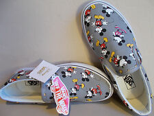 VANS Disney Mickey Mouse/Frost Gray Classic Slip-Ons Men's Size 10.5 New In Box