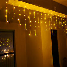 216LED 5M Hanging Icicle Snowfall Christmas Xmas Tree Fairy String Light Outdoor