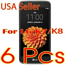 6X Crystal Clear Screen Protector Saver Film For New LG K8 / K7 / Tribute 5