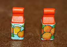 Playmobil accessoire lot de 2 briques brick de jus d'orange supermarché ref dd