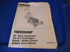 Yamaha Owners Manual YMS204QP Lawn Mower